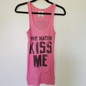 2/$20 Pink Nation tank top kiss me one million